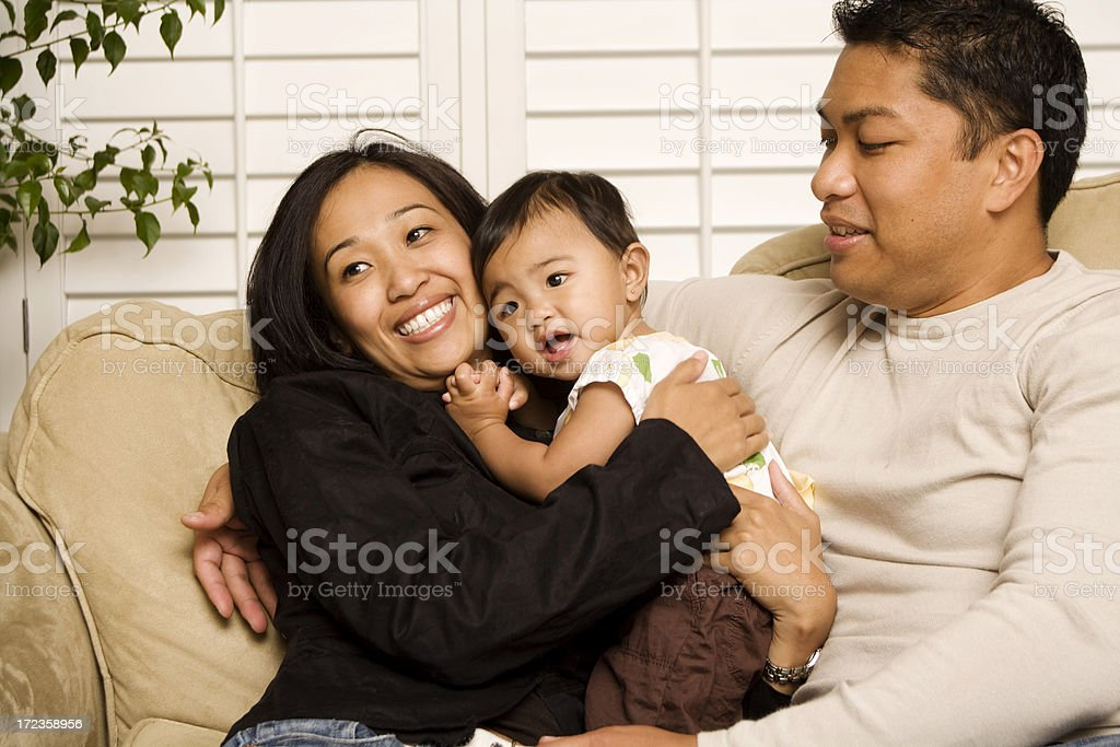 Family Cuddle time royalty-free stock photo