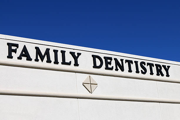 Family Dentist sign stock photo