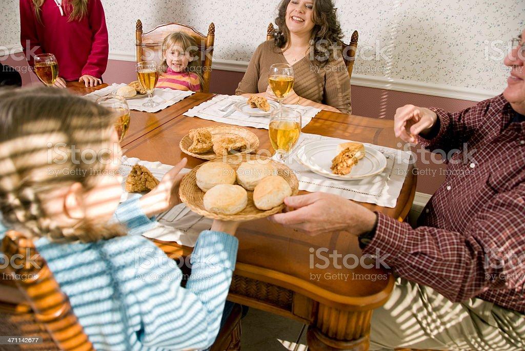 Family Dinner Series royalty-free stock photo
