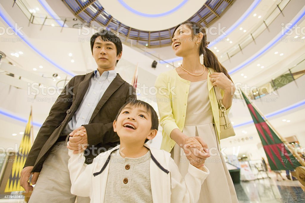 Family doind shopping stock photo