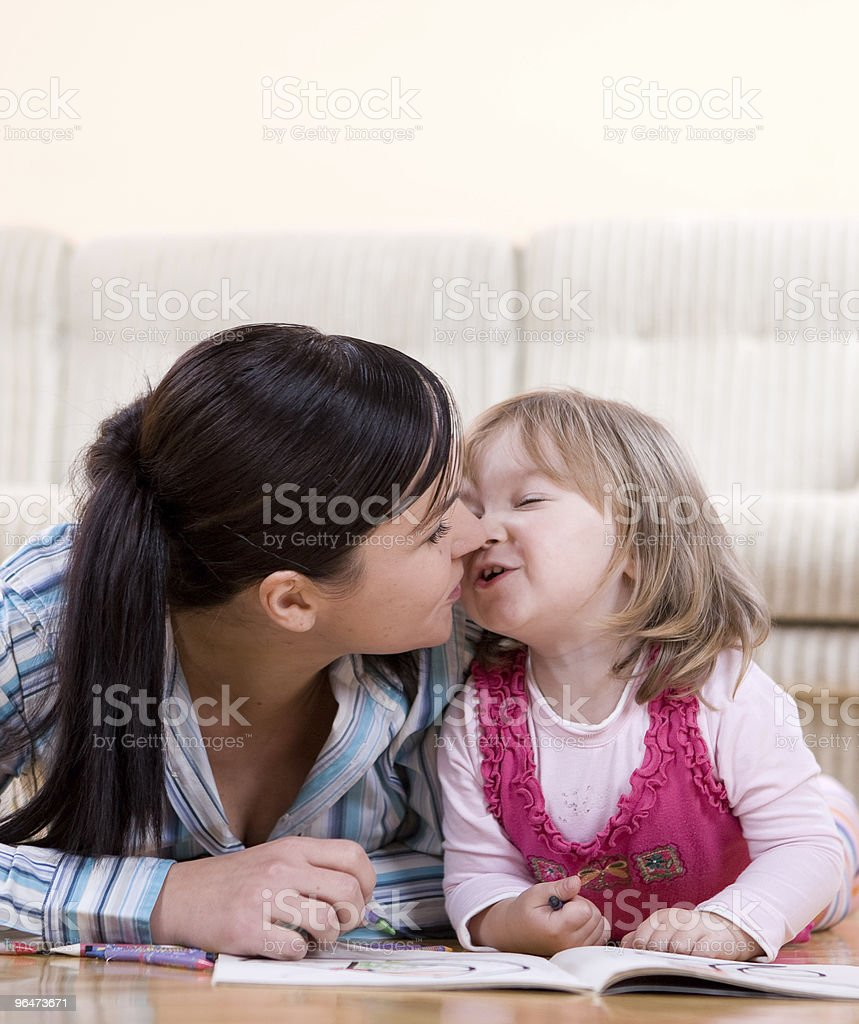 family drawing royalty-free stock photo