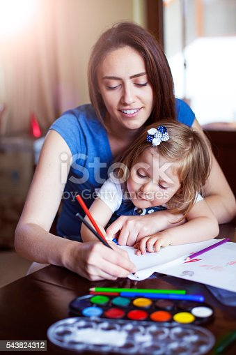 Mother, Child, Family, Drawing - Activity, Activity
