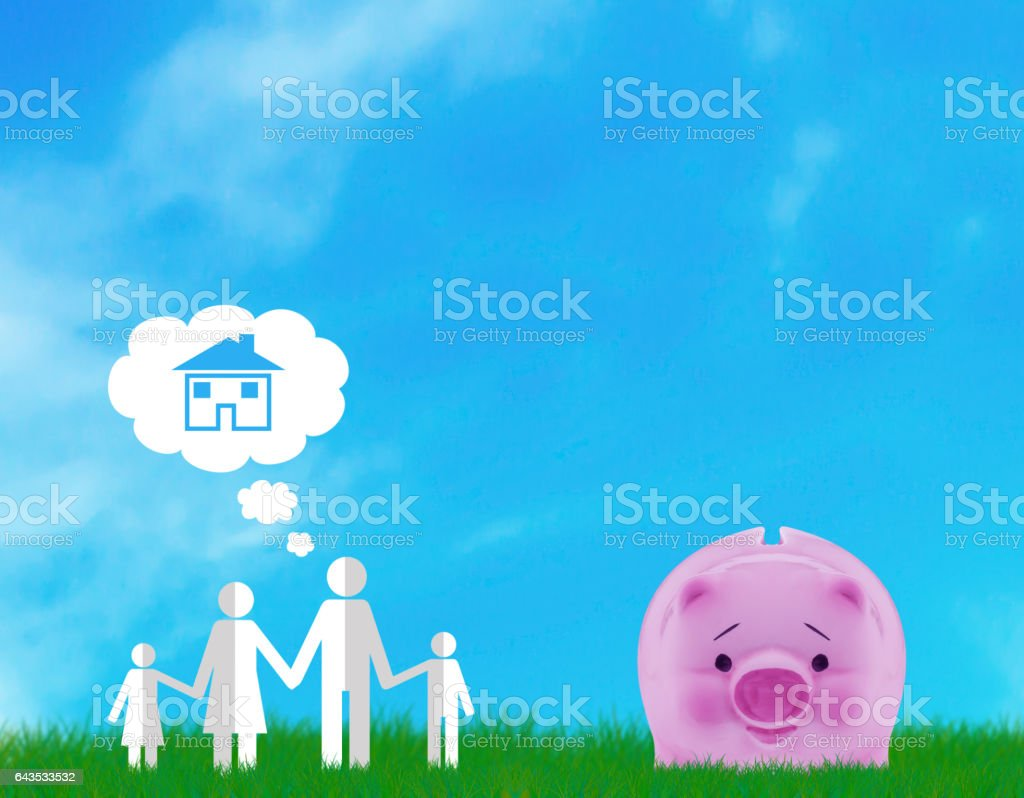 Family Dream Concept stock photo