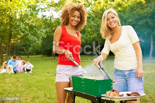 istock Family Enjoying a barbecue picnic. 175543751