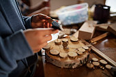 istock Family enjoying crafting, carpentry and carving wood 1318522724