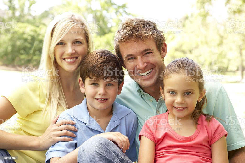 Family Enjoying Day In Park royalty-free stock photo