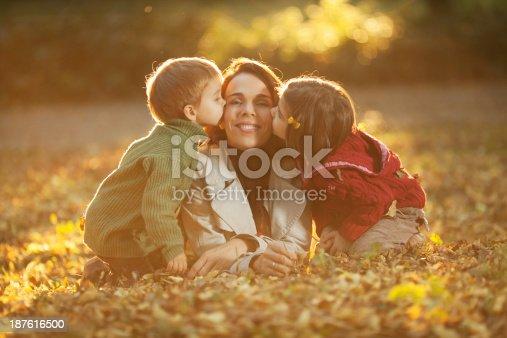 172407626istockphoto Family enjoying in a autumn park. 187616500