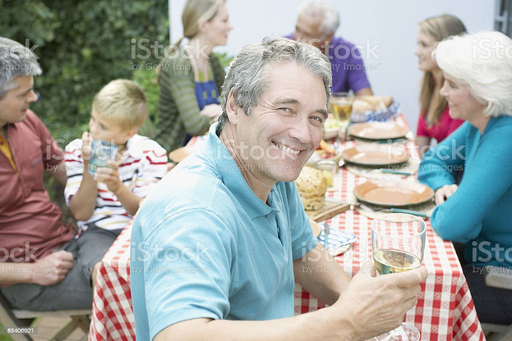 Family enjoying picnic royalty-free stock photo