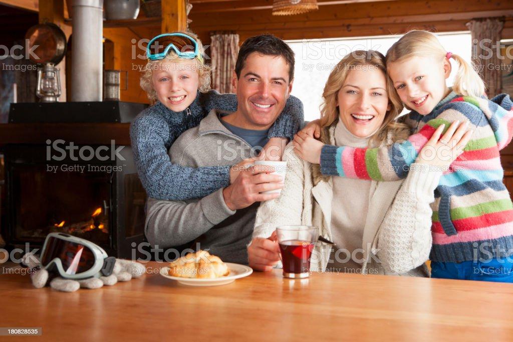 Family Enjoying Refreshments royalty-free stock photo