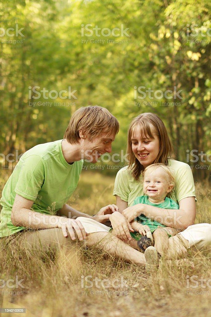 Family enjoying summer nature royalty-free stock photo