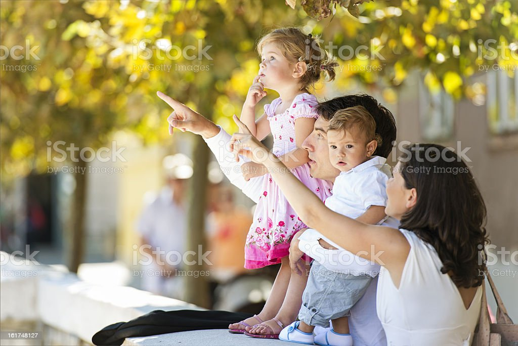 Family enjoying the outdoors royalty-free stock photo
