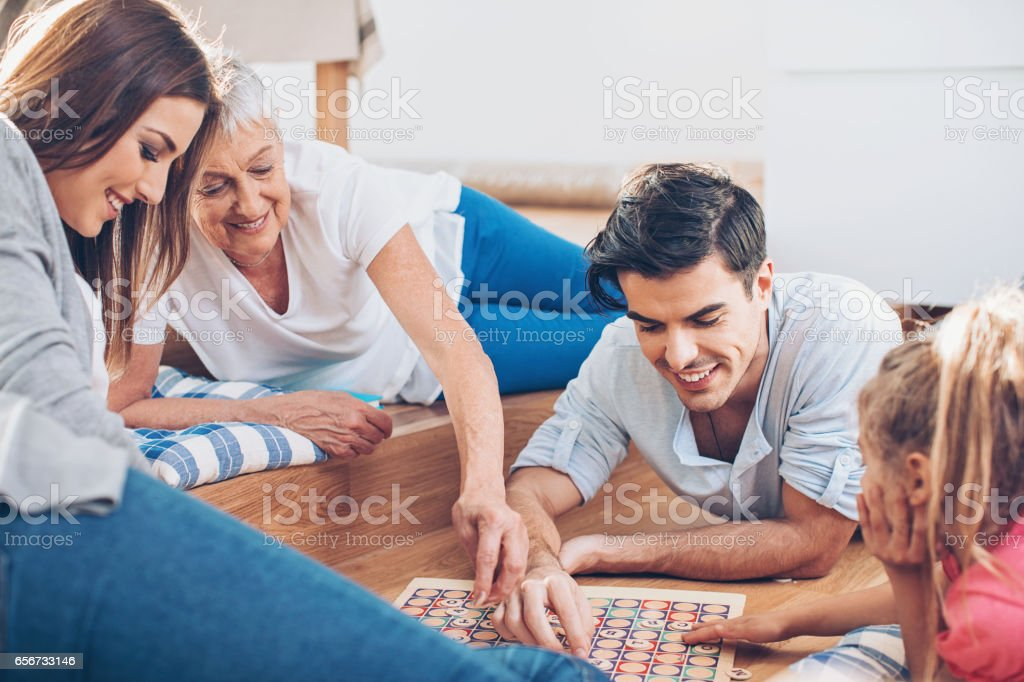 Family entertainment stock photo