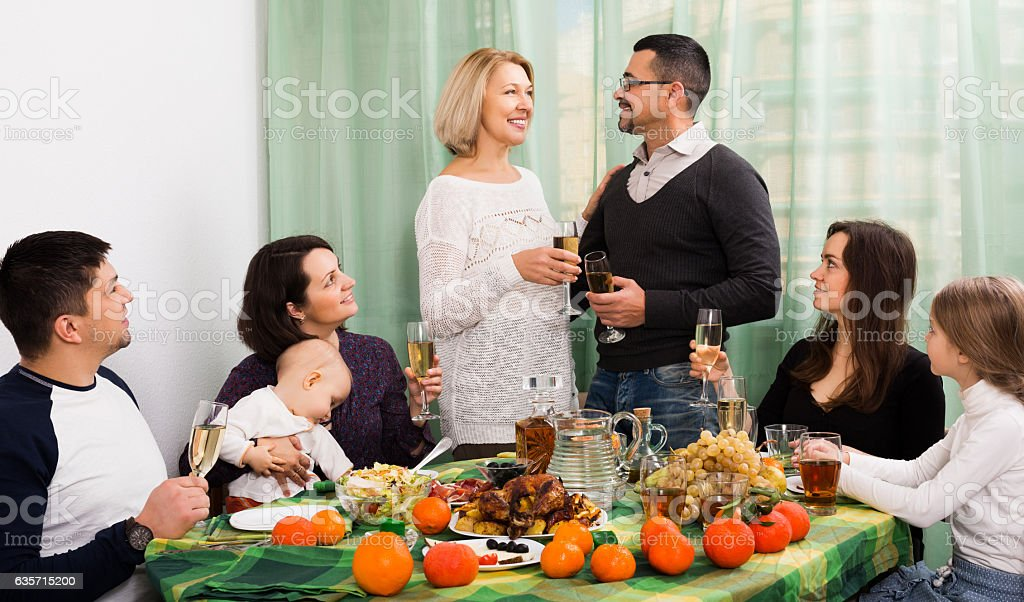 family event in home royalty-free stock photo
