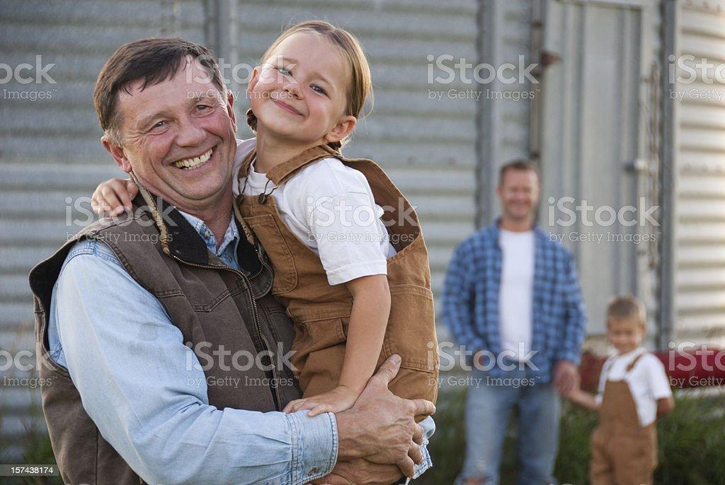 Family Farm royalty-free stock photo