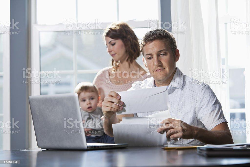 Family finances stock photo