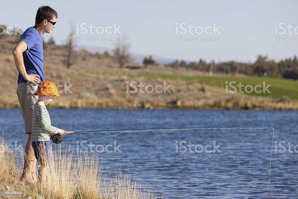 family fishing royalty-free stock photo