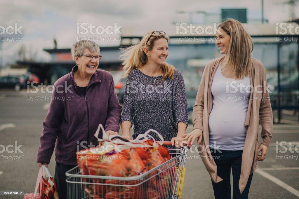 Familie essen Shopping – Foto