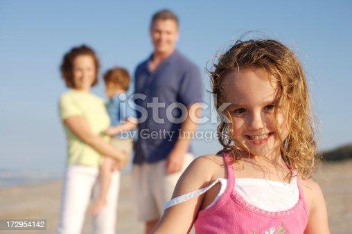 istock Family fun at the beach 172954142