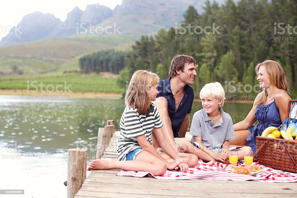 Family fun in the fresh air royalty-free stock photo