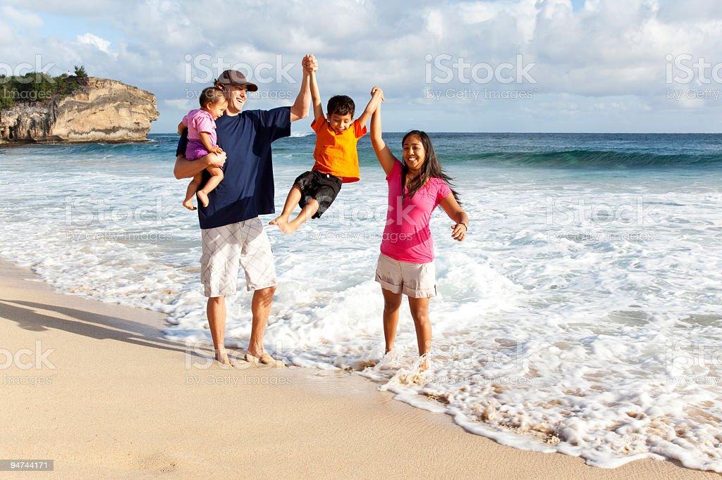 Family Fun on the Beach royalty-free stock photo
