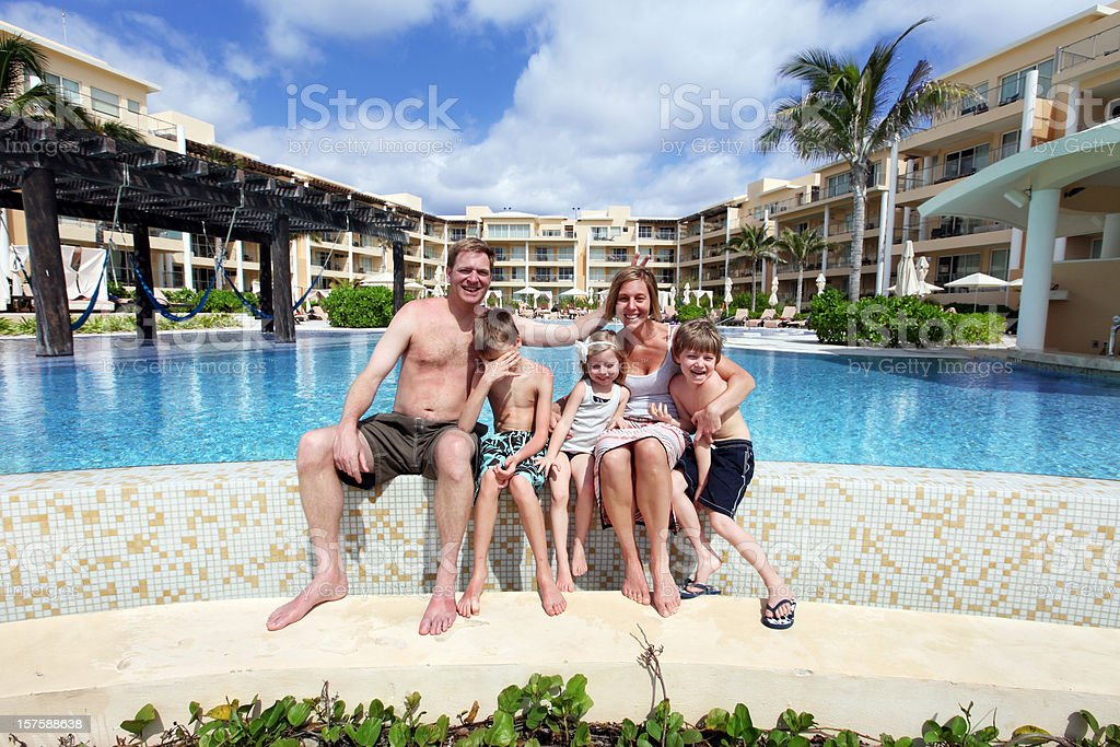Family Fun on Vacation stock photo