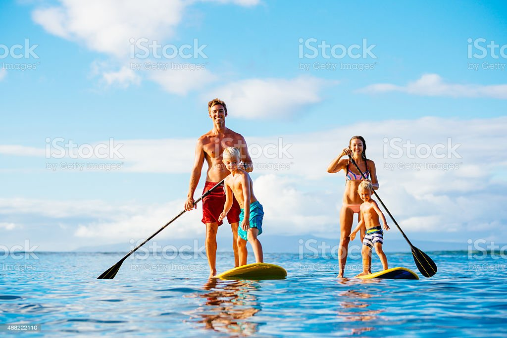Familie, Stand-Up-Paddling – Foto