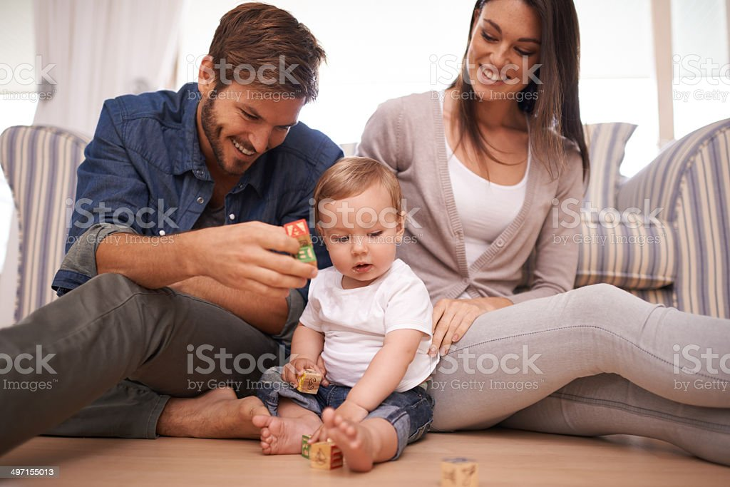 Family fun time together stock photo