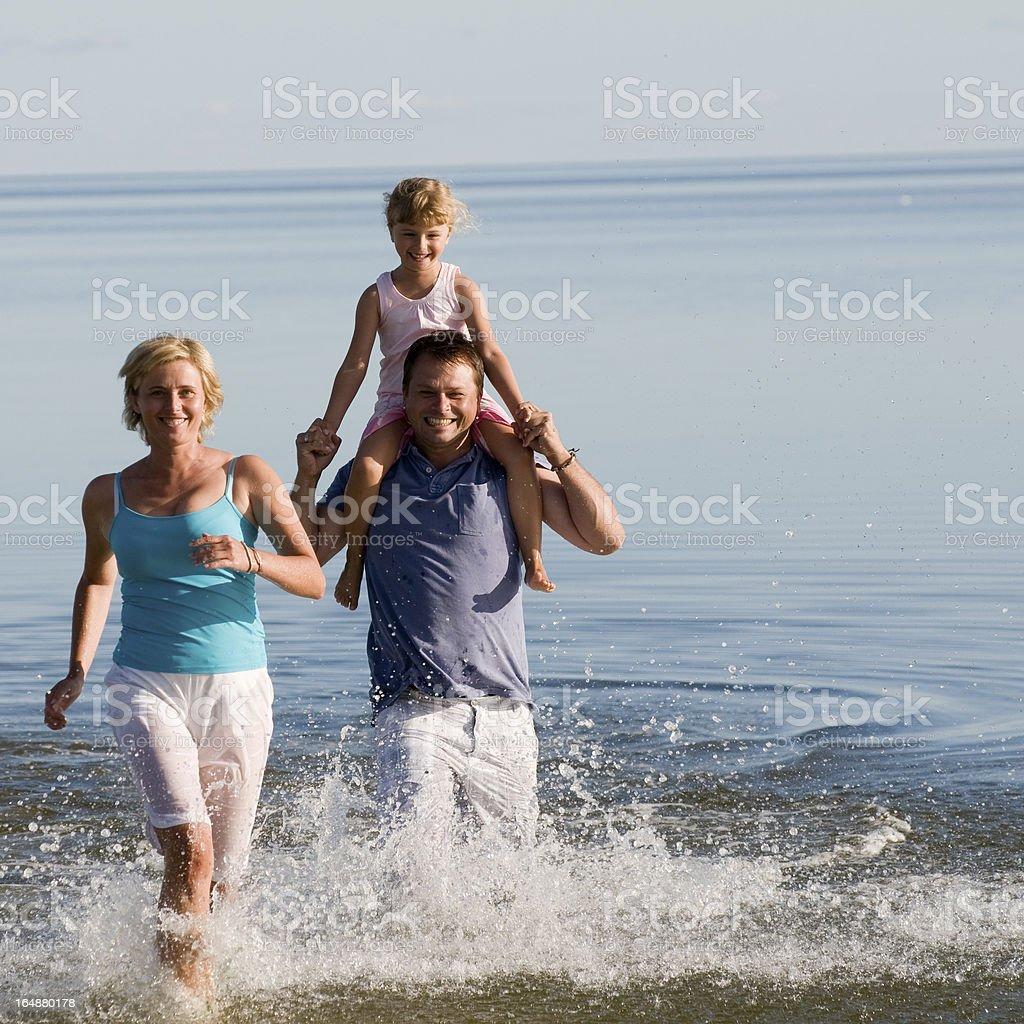 Family fun,sea and sun stock photo