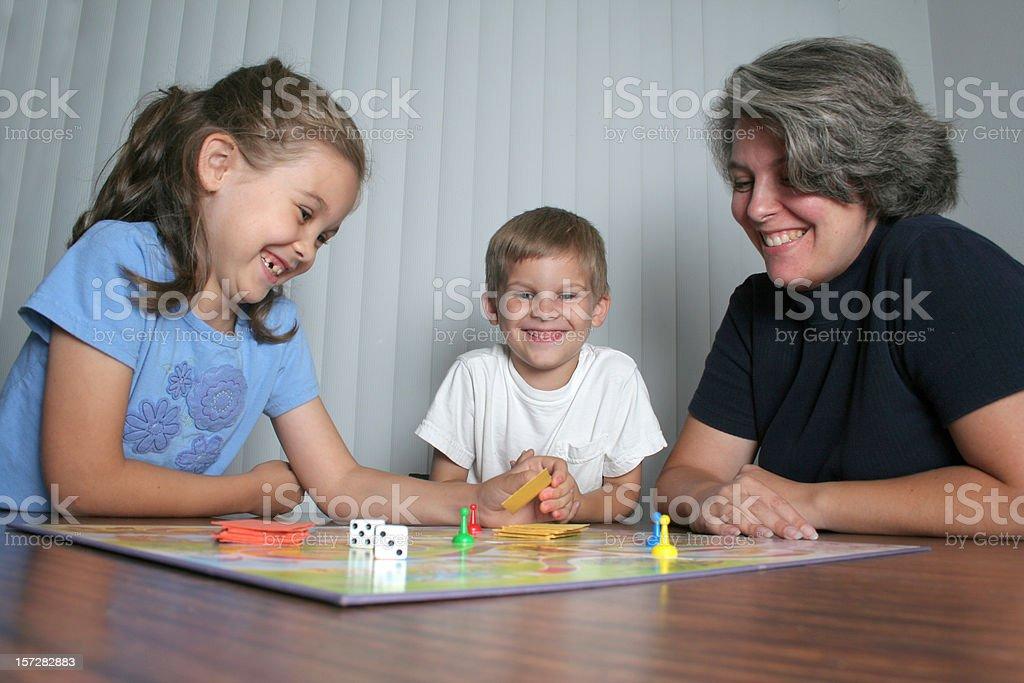Family Game Night 2 stock photo