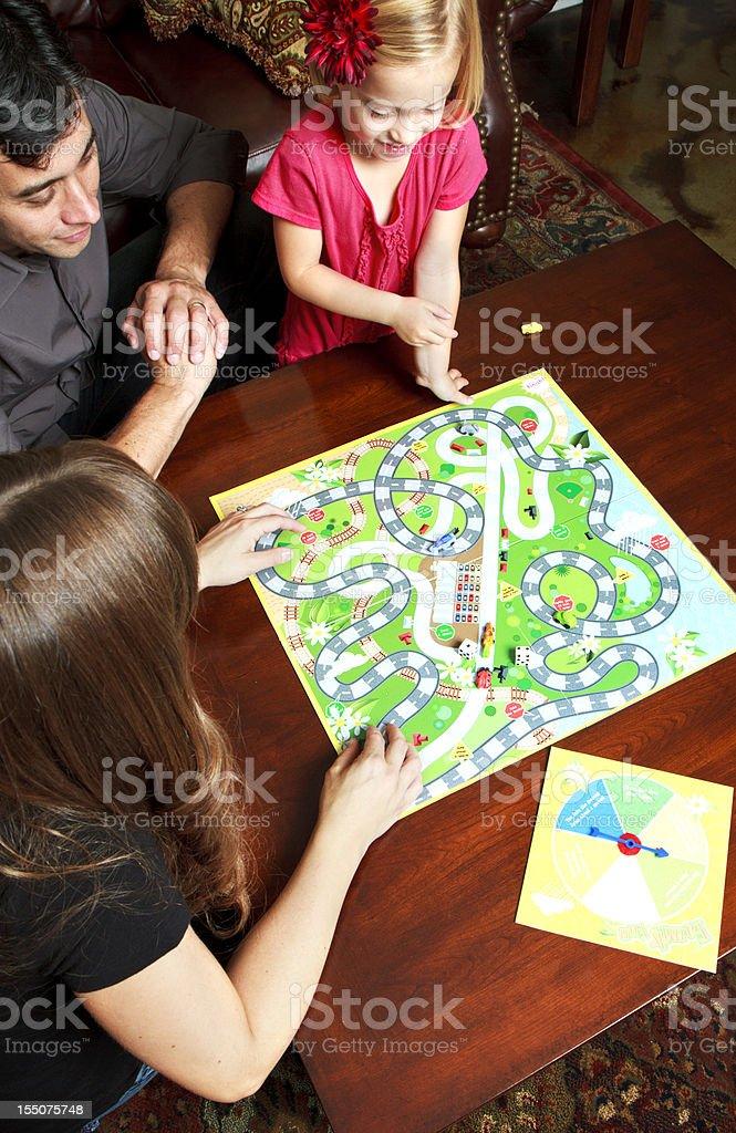 Family Game Night stock photo