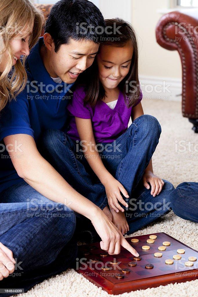 Family Game Time stock photo