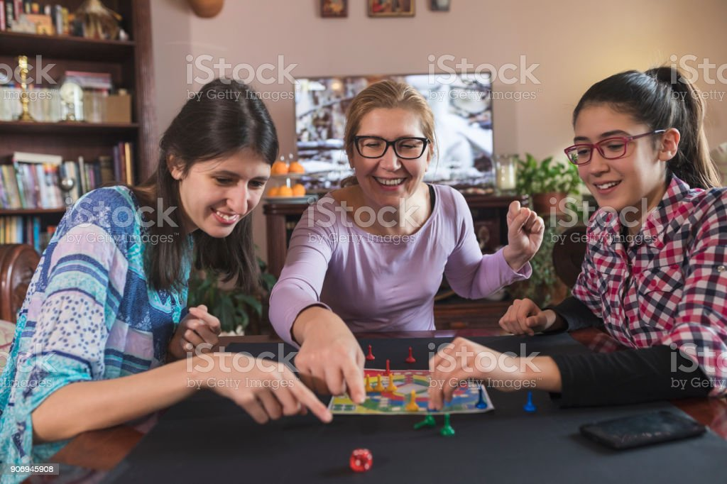 Family Games stock photo