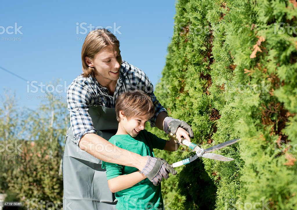 Family gardening royalty-free stock photo