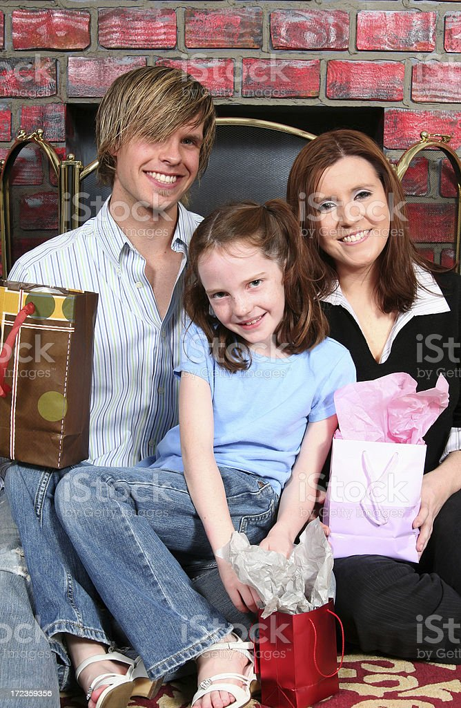 Family Gift Time royalty-free stock photo