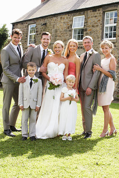 Familie Gruppe bei Hochzeit – Foto