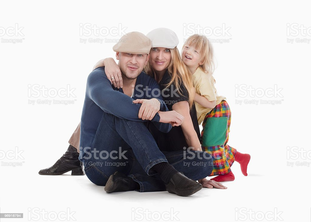 family group portrait royalty-free stock photo