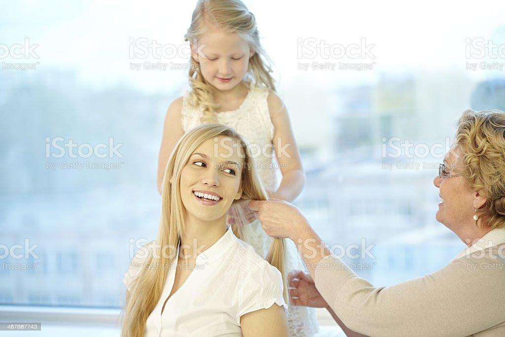 Family hair salon royalty-free stock photo