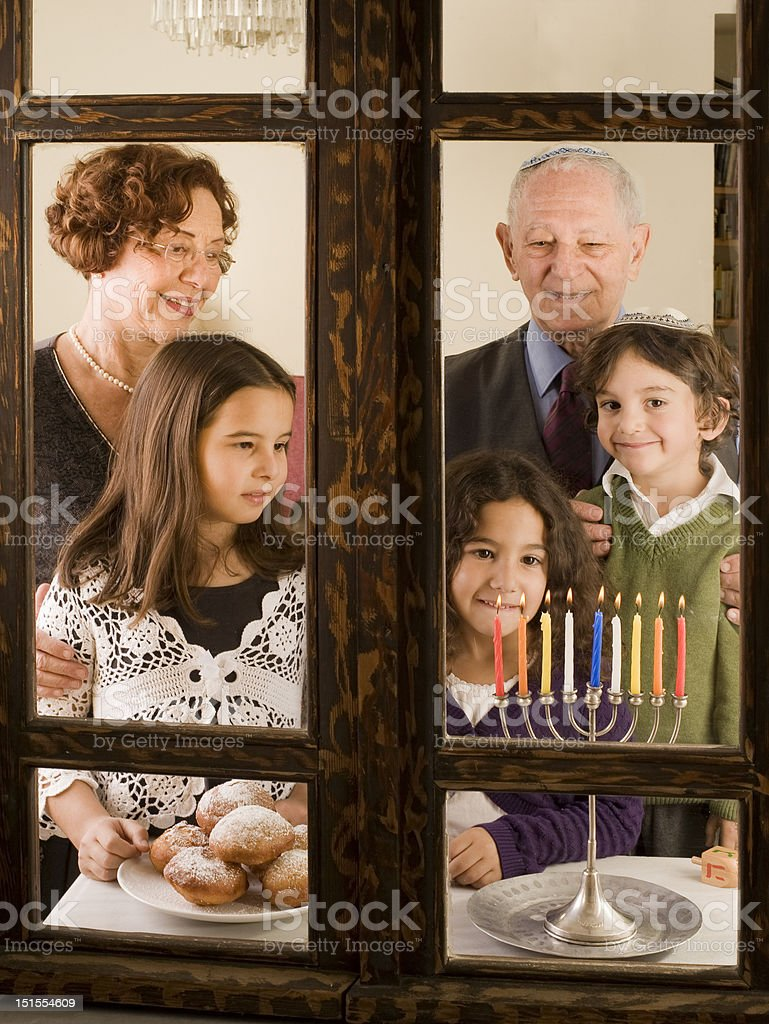family Hanukka royalty-free stock photo