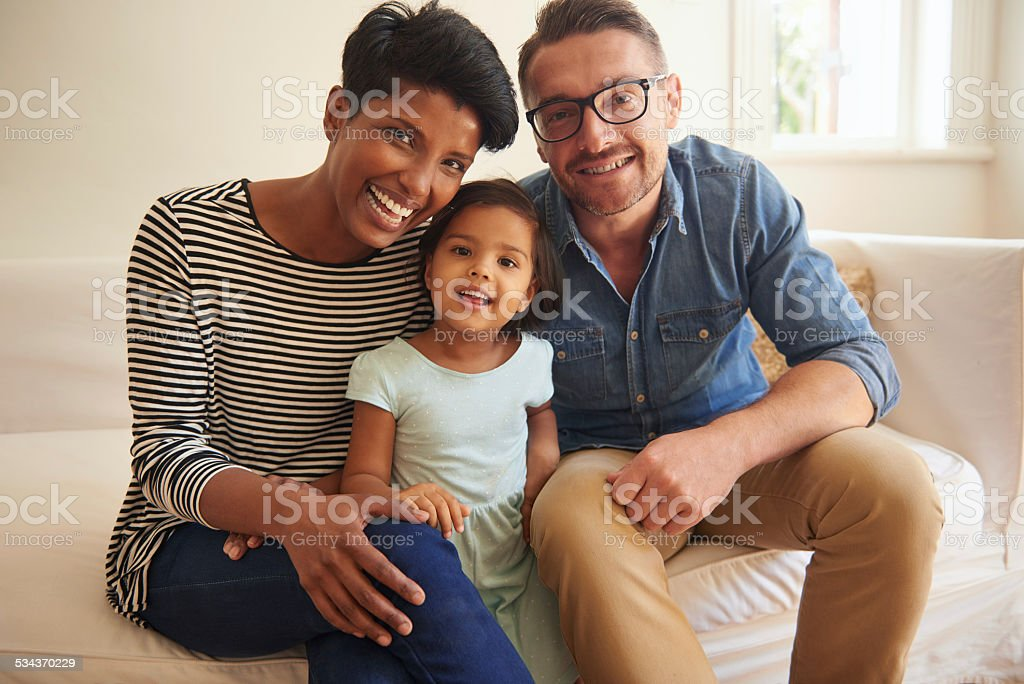 Family = Happiness stock photo