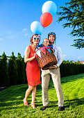 istock Family have birthday party in backyard 1016137698