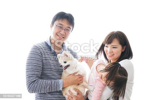 942596618 istock photo Family having a dog 1015437166