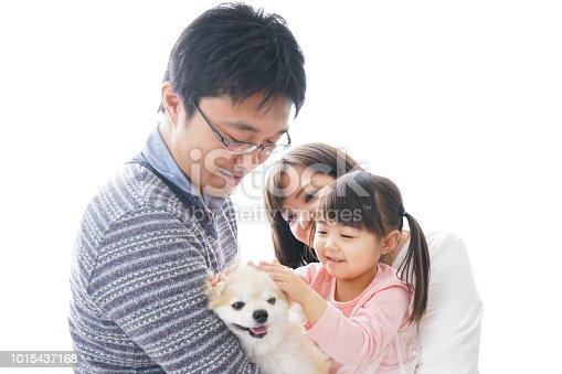 942596618 istock photo Family having a dog 1015437168