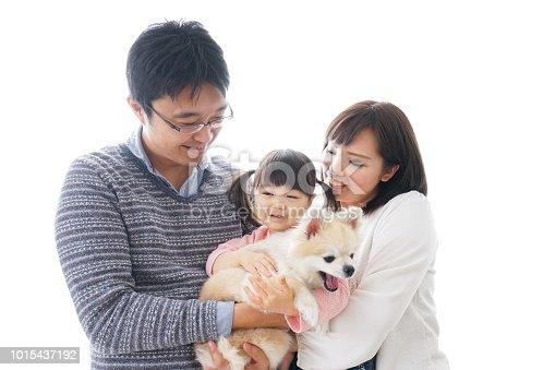 942596618 istock photo Family having a dog 1015437192