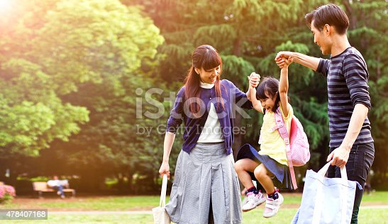 istock Family having a walk outdoors in summer, Tokyo 478407168