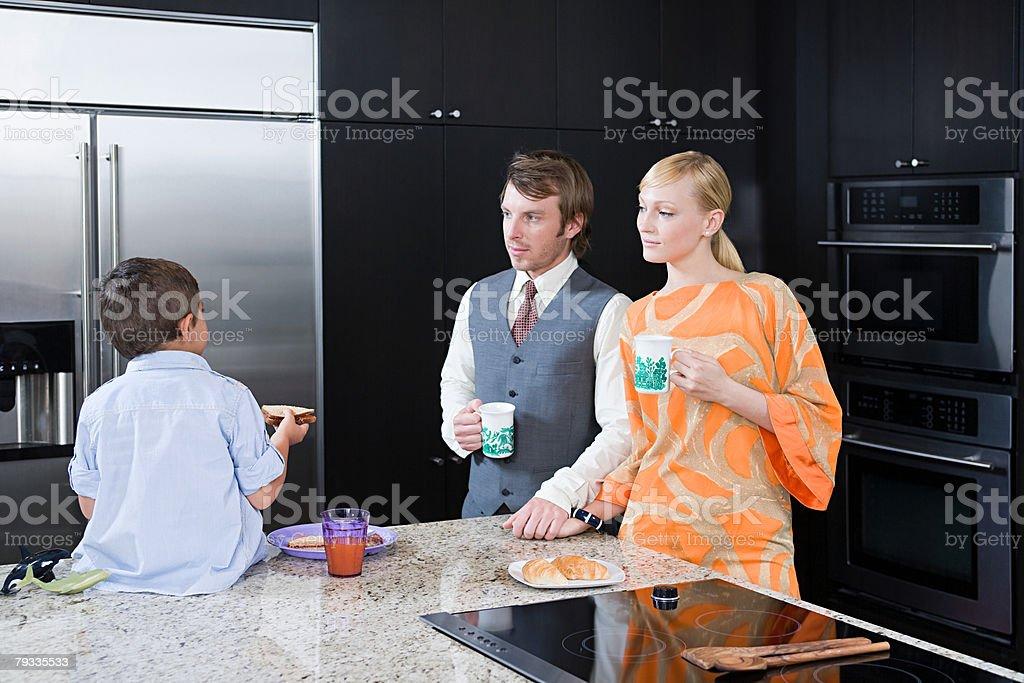 A family having breakfast royalty-free stock photo