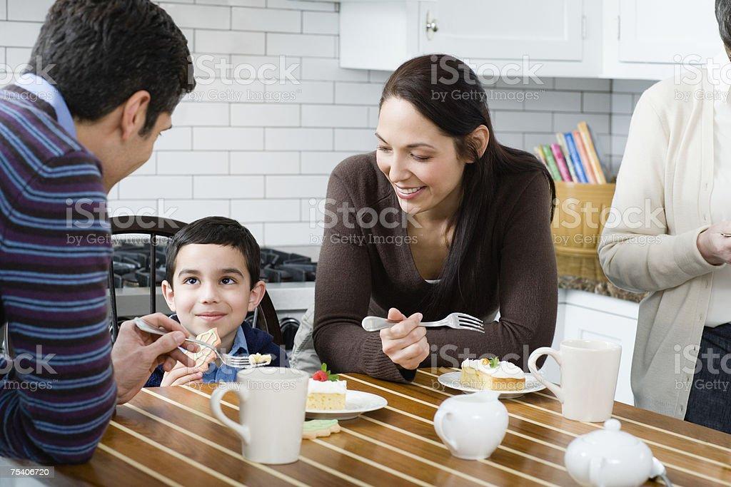Family having cake royalty-free stock photo