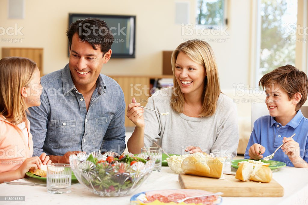 A family having dinner together  royalty-free stock photo