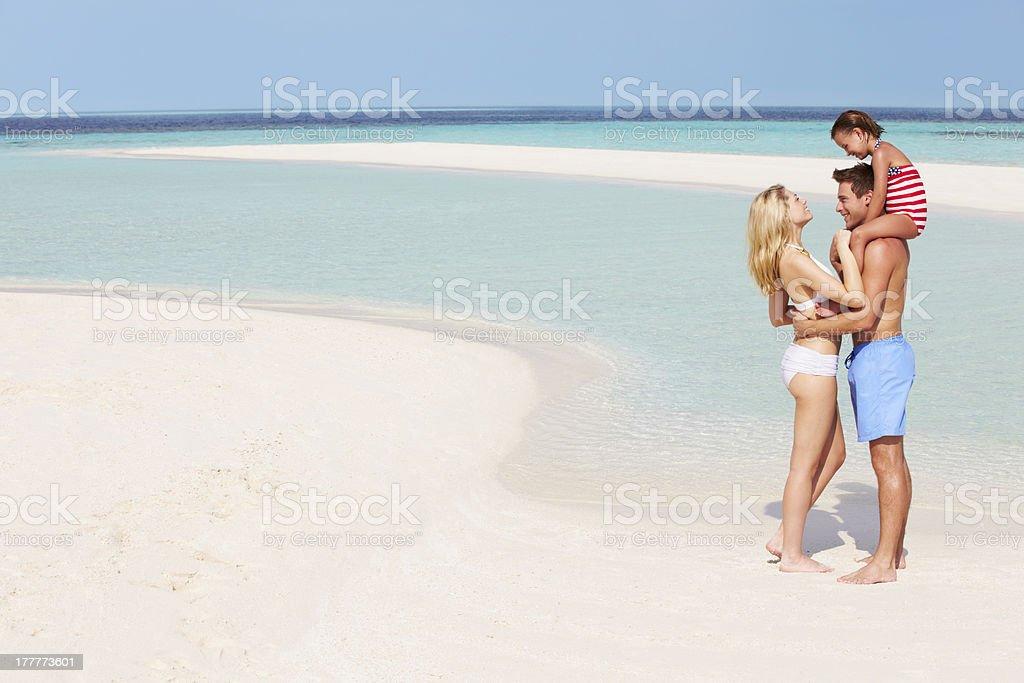 Family Having Fun In Sea On Beach Holiday royalty-free stock photo