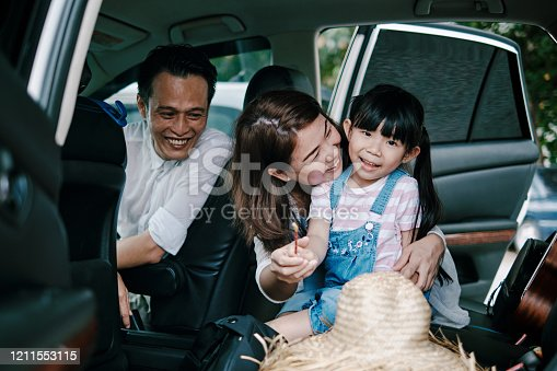 829619540 istock photo Family Having Fun in the Car Ready to Travel 1211553115