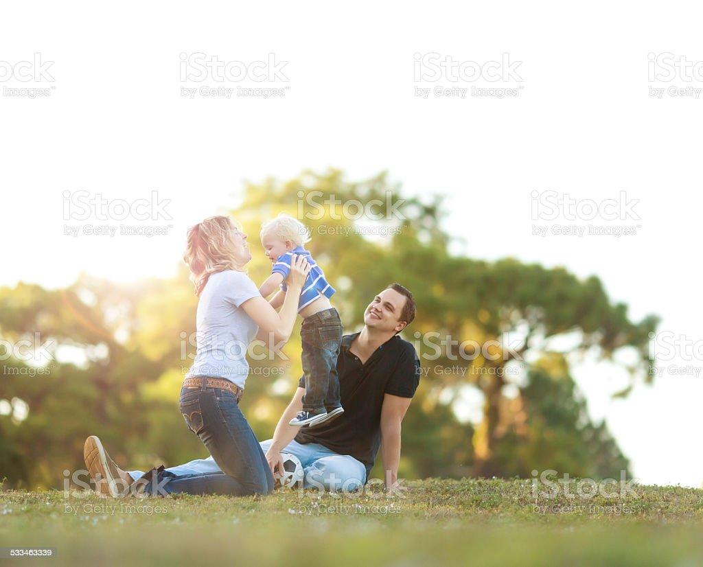 Family having fun stock photo